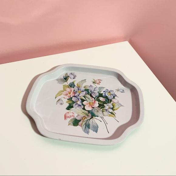 Vintage floral tray
